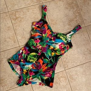 Maxine of Hollywood Swimsuit with Tropical Print!